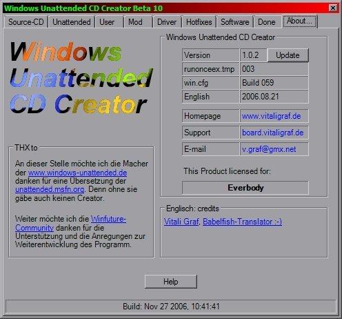 Windows Unattended CD Creator: Instalación automática de Windows