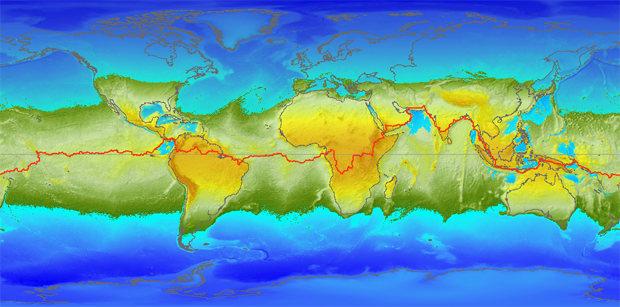 La gravedad del planeta sería la fuerza dominante sobre las masas de agua.