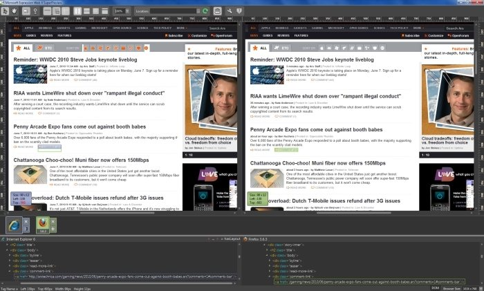 Blend incorpora soporte para Silverlight 4, mientras que el SuperPreview de Expression Web sigue tan firme como siempre