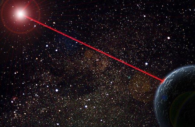 Rayo láser contra basura espacial