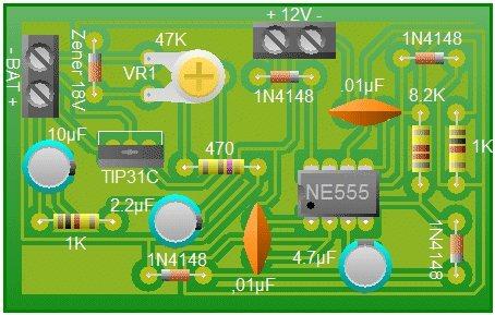 Cargador de baterías de 12V