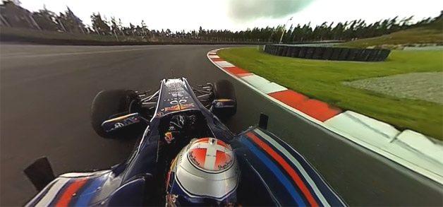 Vídeo de 360 grados a bordo de un Fórmula 1