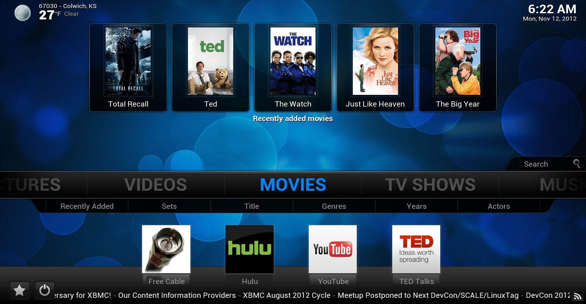 Descarga XBMC 12.0 Frodo Beta 1