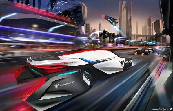 El coche de policía del futuro