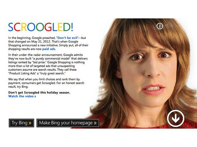 Scroogled: Microsoft contra Google (vídeo)