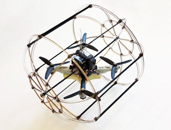 HyTAQ: Cuadricóptero que se desplaza por tierra
