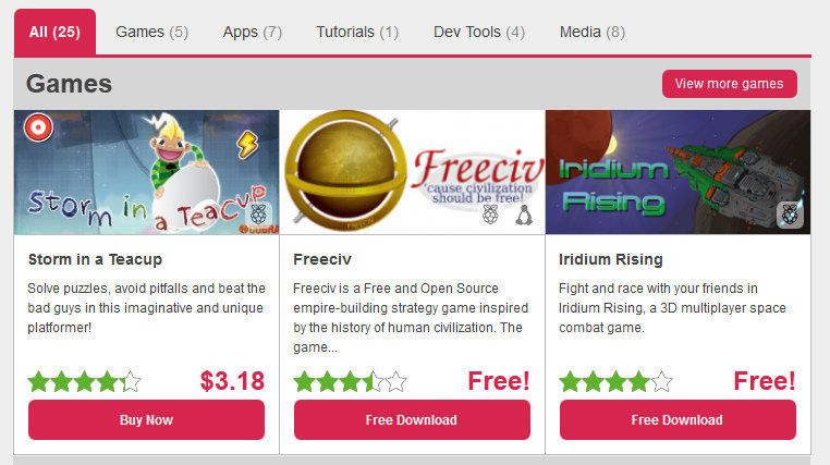 Pi Store: Tienda de aplicaciones de Raspberry Pi