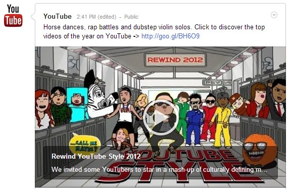 Los éxitos de YouTube en 2012 (vídeo)