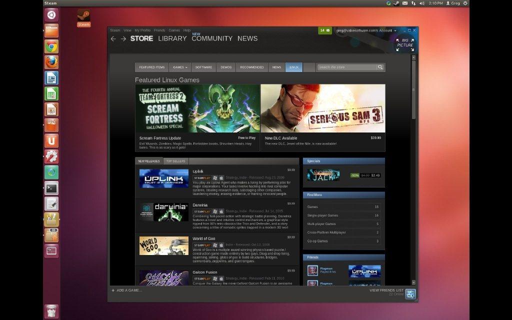 Steam para Linux abierto a todo el mundo