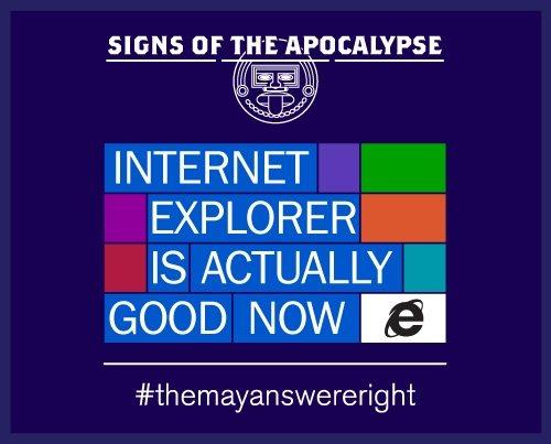 Microsoft y el apocalipsis Maya