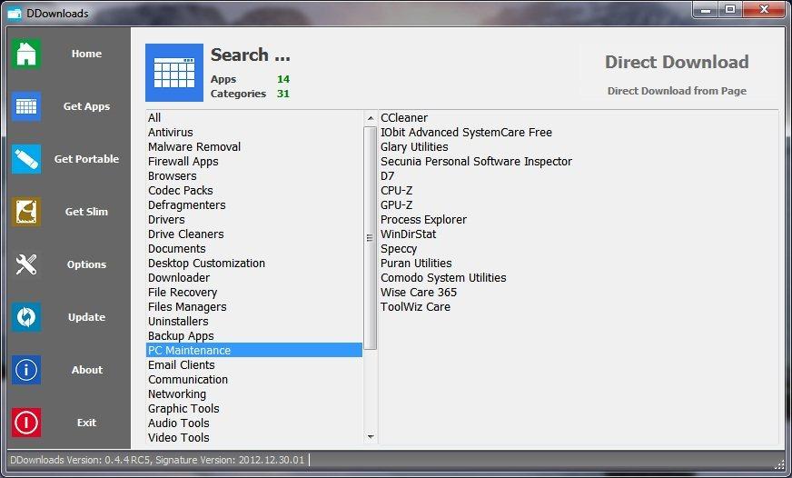 DDownloads: Descarga directa de aplicaciones