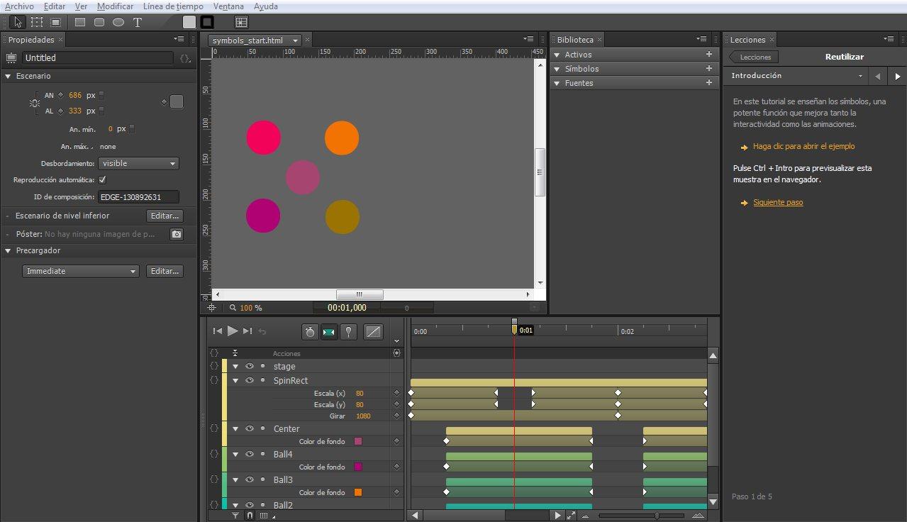 Adobe Edge Animate: Crea contenido animado en HTML5 para páginas web