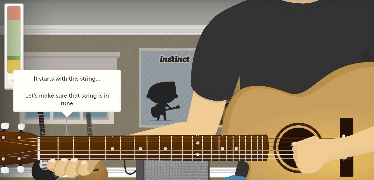 Instinct: Aprende a tocar guitarra online y gratis