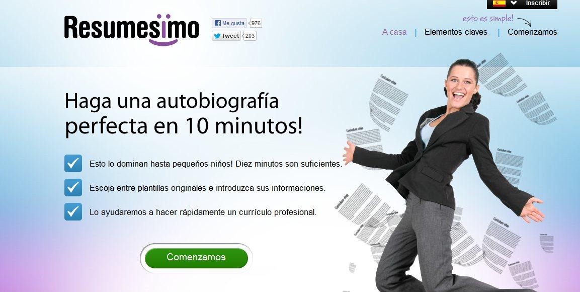 Crea tu Currículum vítae online