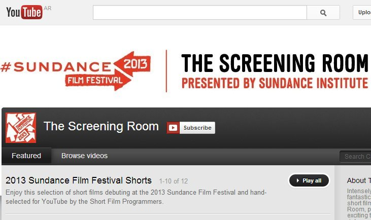 Los cortos de Sundance en Youtube