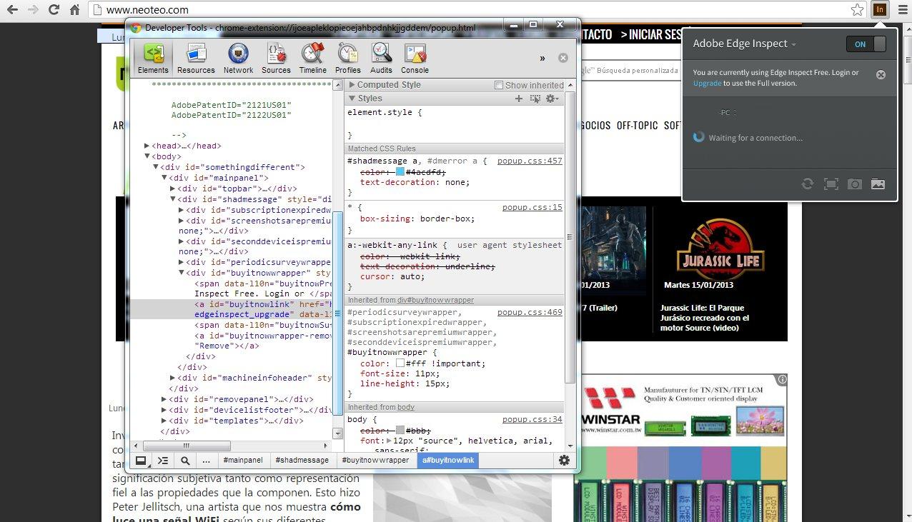 Adobe Edge Inspect: Comprueba la compatibilidad de sitios web en dispositivos móviles