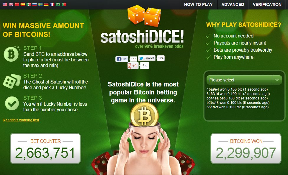 Las ganancias de los casinos de Bitcoins