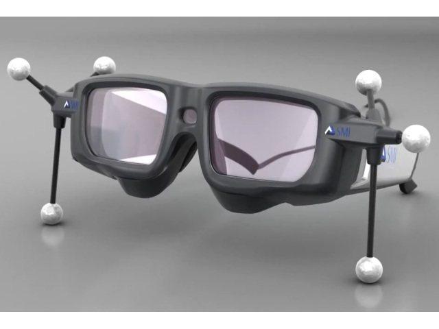 Gafas 3D que rastrean tu mirada