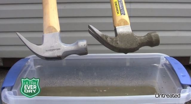 Revestimiento super hidrofóbico en acción (video)