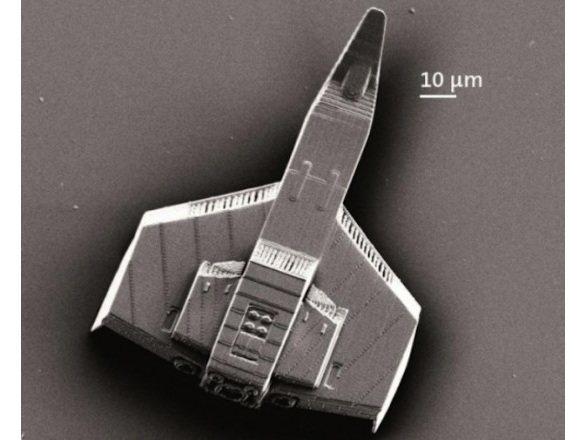 Nave espacial microscópica hecha con una impresora 3D