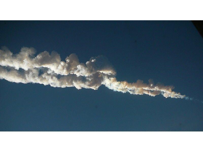 Los vídeos de la caída del meteorito