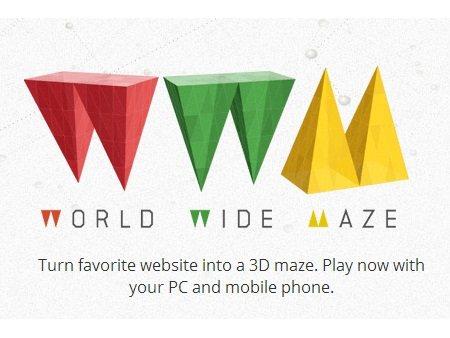 Chrome World Wide Maze: Páginas web convertidas en un videojuego