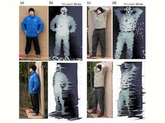Cámara láser captura fotos 3D a un kilómetro de distancia