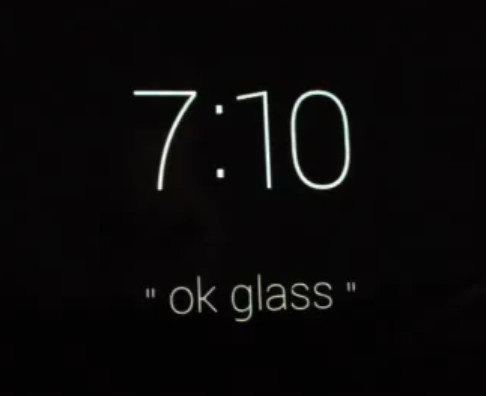 La interfaz de Google Glass (vídeo)