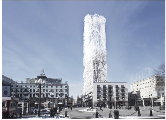 """Un edificio con """"pelos"""" que captura energía eólica"""