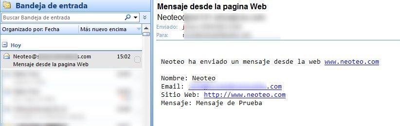 HTML5, CSS y PHP– Curso básico – Formulario de contacto y recepción de mensajes (IV)