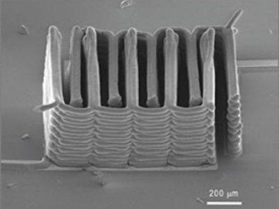 Crean la primera batería con una impresora 3D
