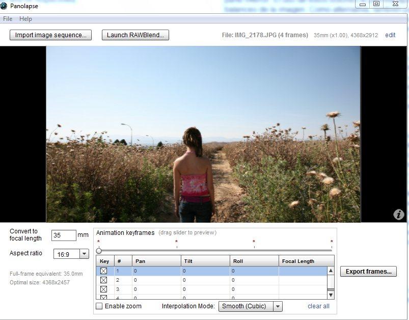 Crea el efecto time-lapse con movimiento de cámara virtual