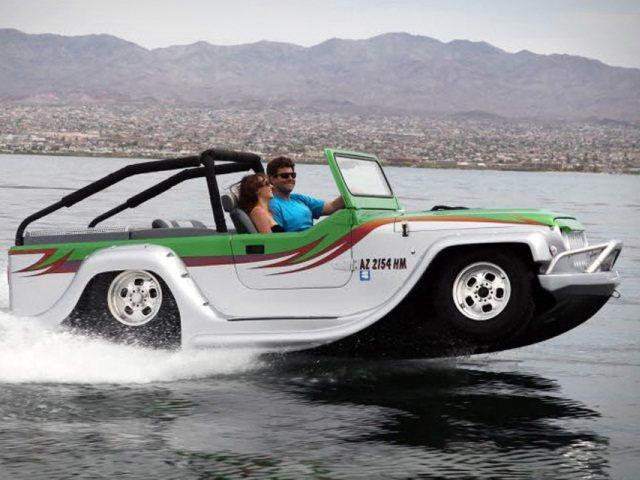 WaterCar Panther: Híbrido anfibio entre bote y Jeep
