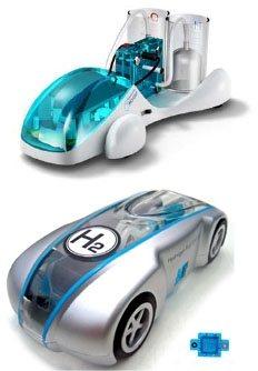 Coches de juguete a hidrógeno