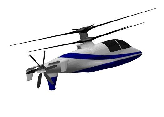 Helicóptero ultra veloz con dos hélices superiores: Sikorsky X2