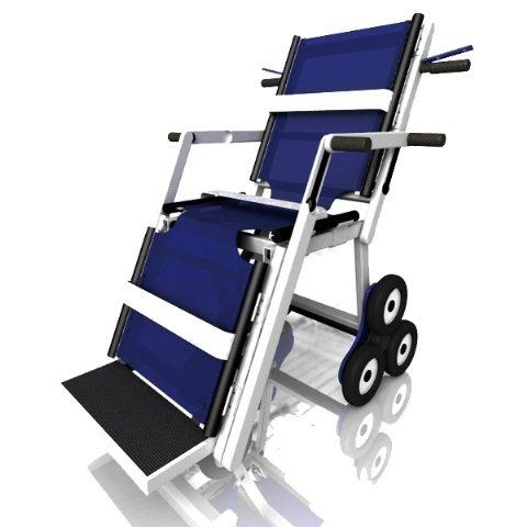 silla de ruedas bajar escaleras