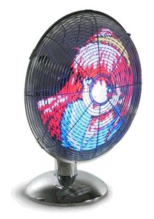Led Art Fan: Ventiladores con LED animados