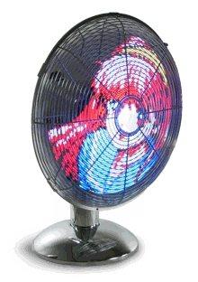 Led Art Fan: Ventiladores con LED animados