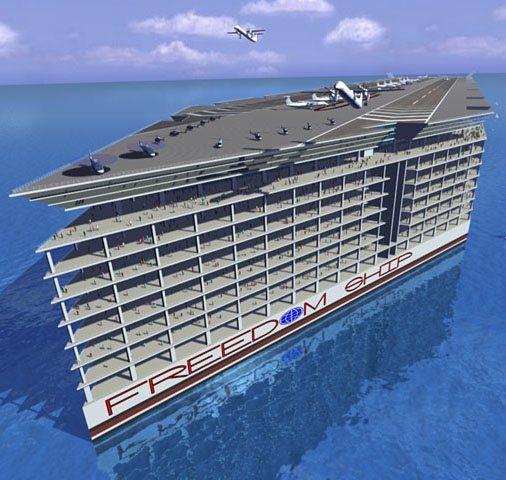 Freedom Ship, la ciudad flotante del futuro