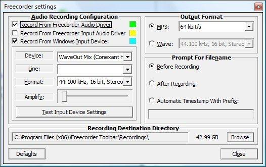 Freecorder, graba audio desde tu navegador