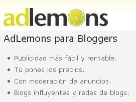 AdLemons, publicidad a elección para Bloggers y Anunciantes