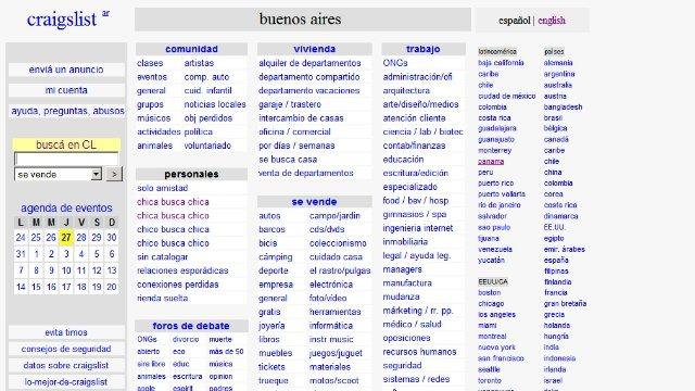 Craiglist en español