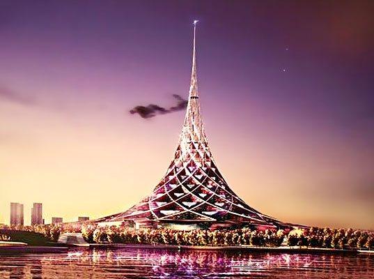 como el ucmanhattan moscovitaud la torre ucrusiaud diseada por el arquitecto britnico norman foster ser el edificio ms alto del continente europeo