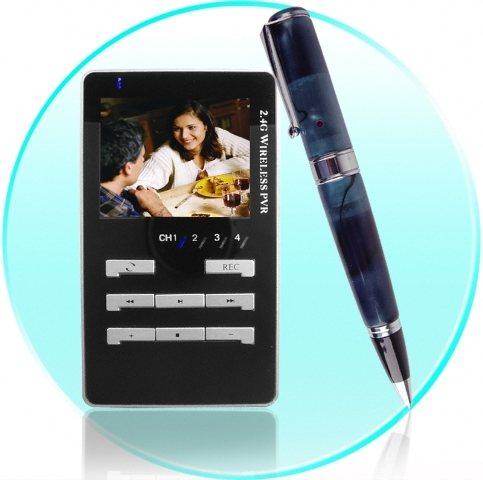 Bolígrafo con cámara espía y pantalla MP4