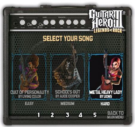 Guitar Hero III Widget: ¡para jugar en línea!