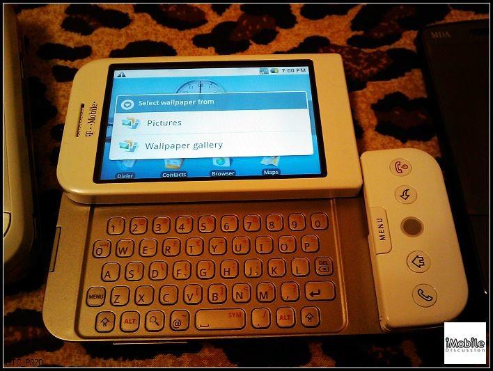 Fotos del HTC Dream: Primer móvil con Android