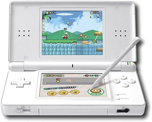 Nintendo DS con cámara y reproductor de MP3