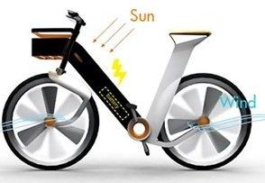 Bicicletas eólicas y solares inyectarán electricidad en la red