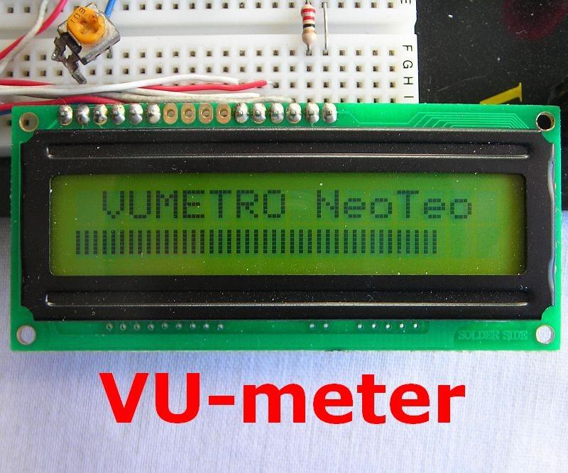 Indicador de nivel con LCD (Vumetro)