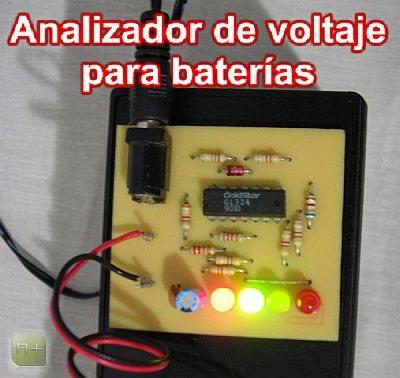 Analizador de voltaje para baterías